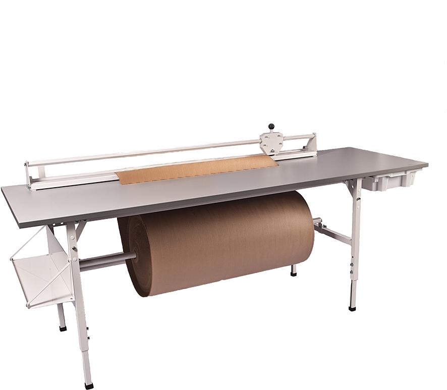 Packbord fristående, grå, 2400x800mm, utan ö ställning