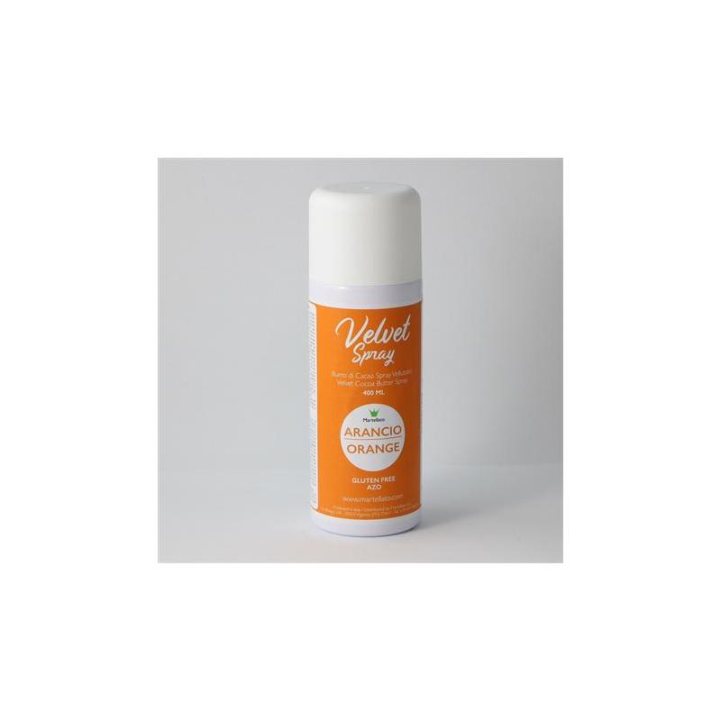 Spray, sammet, orange