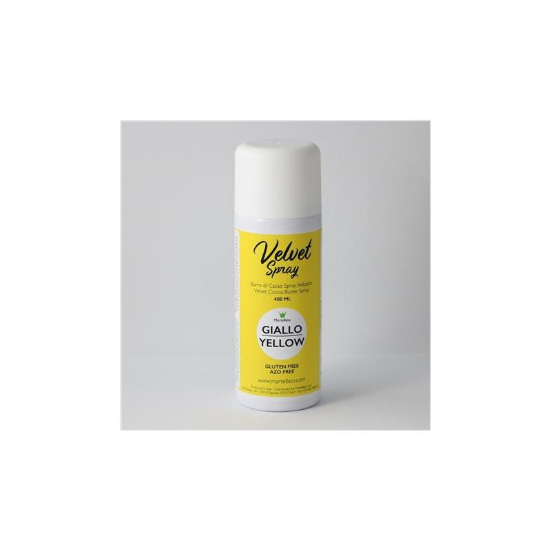 Spray, sammet, gul