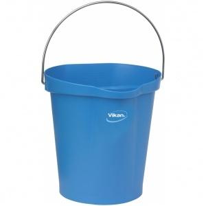Hink 12 liter, rostfritt handtag, gradering, blå