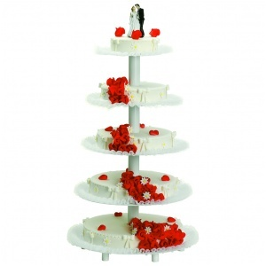 Tårtställning, 7 etage, vitlack H 1040 mm
