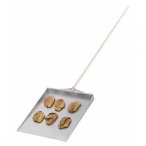 Brödspade med skaft, alu, 500x550 mm