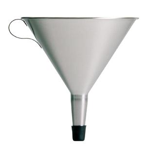 Tratt, rostfri, invändig sil, 120 mm