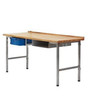 Bakbord, massiv bok, RF ben, 1500x700x40mm