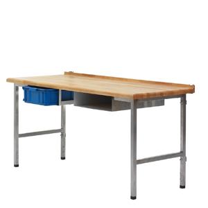 Bakbord, massiv bok, RF ben, 2000x700x40mm