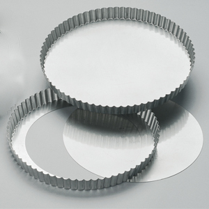 Krusform D200 mm, lös botten, bleckplåt