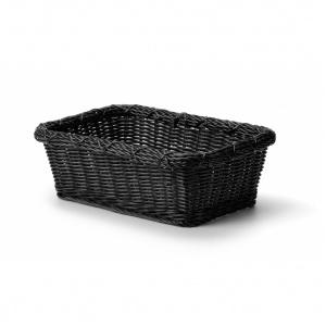 Korg, pp-plast, 375x280xh130 mm, svart