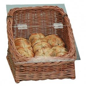 Brödkorg med lock och duk 300x400x280 mm