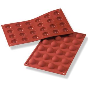 Siliconflex rund/halvkula D=30x15 mm 24 fig 3-pack