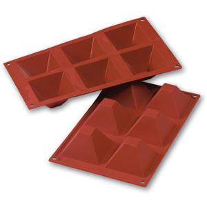 Siliconflex pyramid 71x71x40 mm 6 fig 3-pack