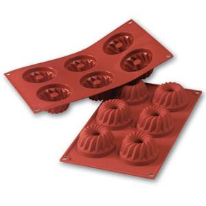 Siliconflex kouglofs D=70x36 mm 6 fig 3-pack