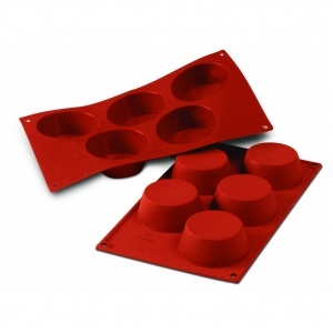 Siliconflex muffins D=81x32 mm 5 fig 3-pack