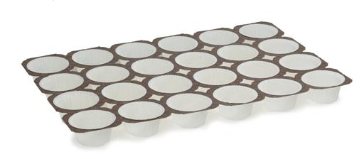 Muffinsform oval  48 st/tråg, 100 tråg/fp