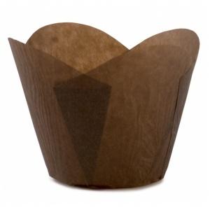 Tulip, brun, rund kant 1000 st/fp