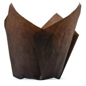 Bakform Tulip brun Ø50xH95 mm 1000 st/fp