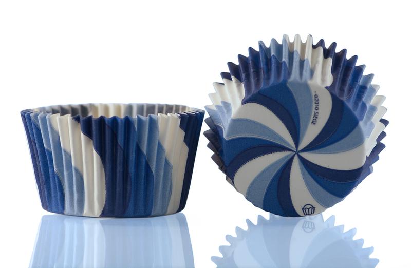 Muffinsform Virvel blå 1000 st/fp
