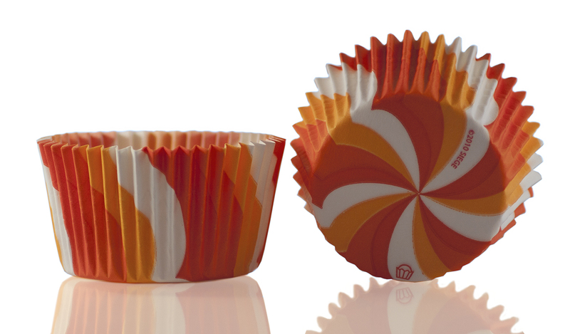 Muffinsform Virvel orange 1000 st/fp