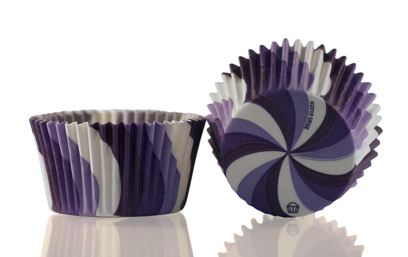 Muffinsform Virvel lila 1000 st/fp