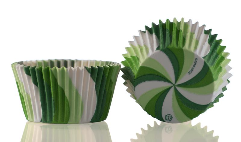Muffinsform Virvel grön 1000 st/fp