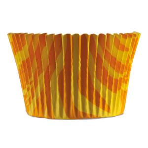 Muffinsform Zebra gul/orange 1000 st/fp
