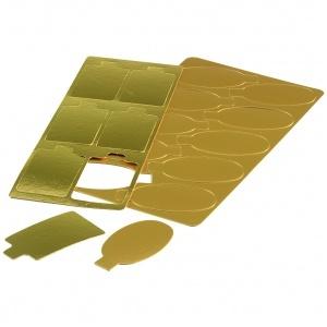 Guldbricka rektangulär 90x55 mm m tunga 200st/fp