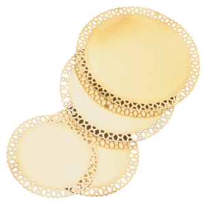 Guldspetsbrickor. Ø 200 mm 50st/fp.