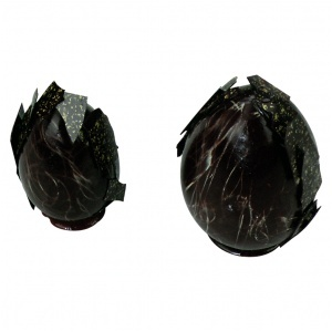 Chokladform, ägg 4-del.