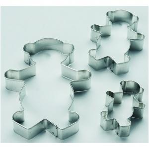 Utstickare, nalle, 3-del  90 mm