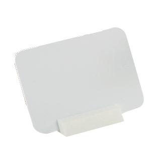 Prisskylt, vit m svart penna, 70x50 mm