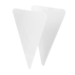 Prisskylt, plasttriangel 45xH65 mm