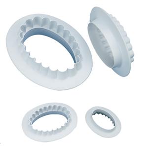 Utstickare oval 4-del