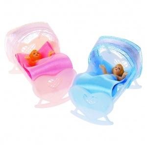 Bebis i vagga rosa 12 st/fp