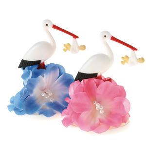 Stork med rosa blommor H70 mm 12 st/fp
