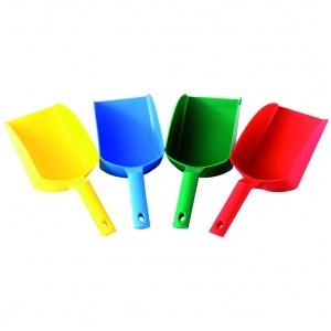 Ergonomisk skopa, 1 lit, gul, blå, grön, röd