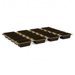 Portionsform brun 80x40xH40 mm 25 tråg/fp