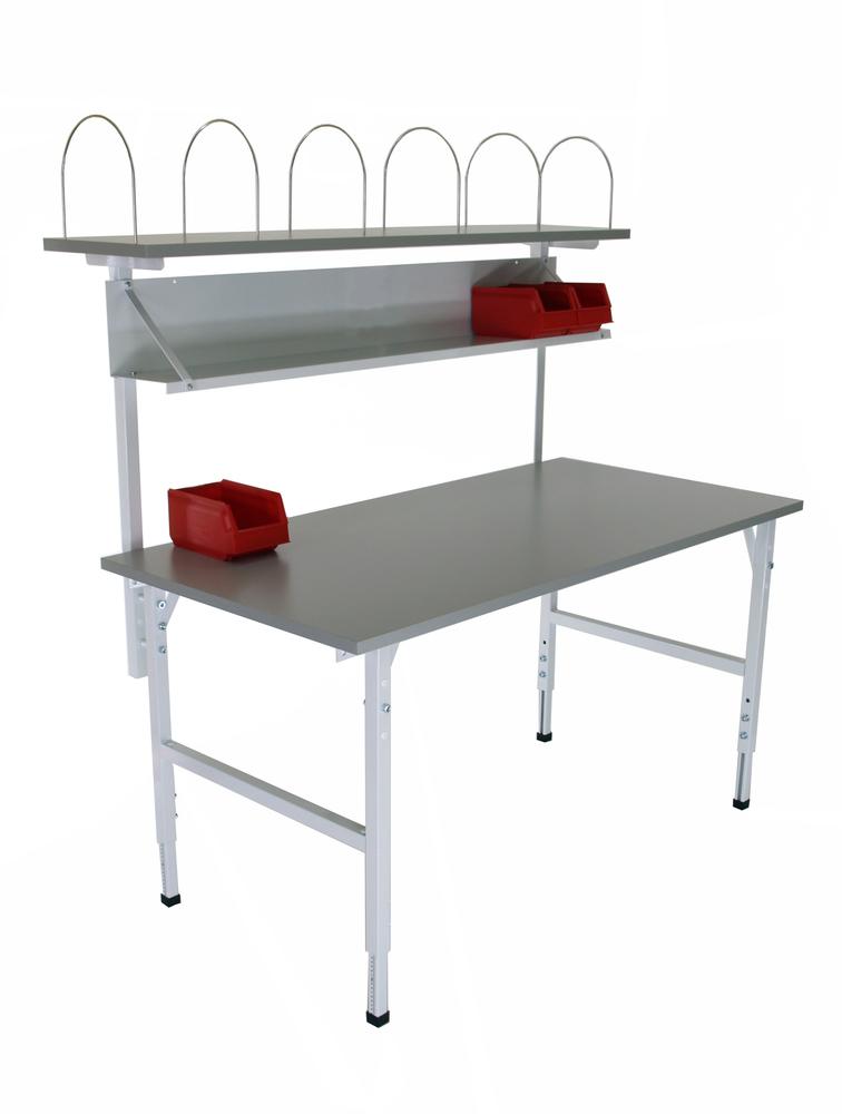 Arbetsbord m överställning 2400x800 blå
