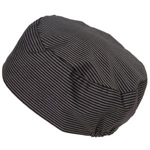 Bagarmössa, svart/grå rand L/XL
