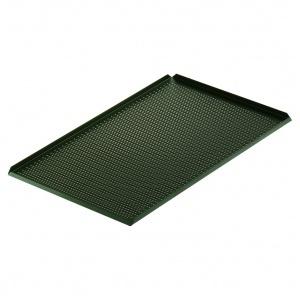 Uppläggningsfat perf,svart 400x250x10 mm