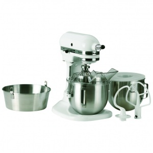 Kitchen Aid köksmaskin med degkrok,visp,vinge