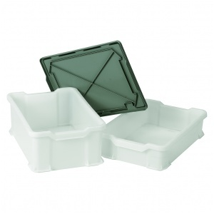 Plastback, vit, 600x400x145 mm, 24 liter