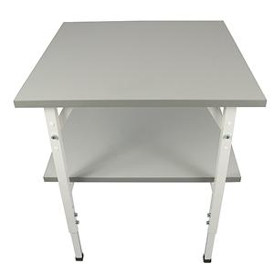 Arbetsbord standard, grå, 800x800mm, m u hylla