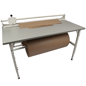 Packbord Blå linjen, grå, 1600x800mm utan ö ställning