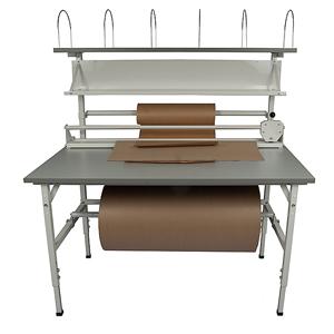 Packbord Blå linjen, grå, 1600x800mm med ö ställning
