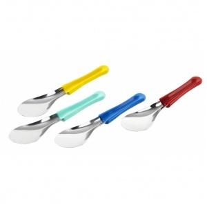 Glass spatula, blå 260 mm