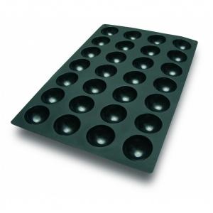 Silikonform, halvklot, 600x400 mm, 28 fig, Ø70 mm