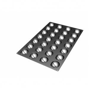Silikonform, Halvklot, 600x400 mm, 28 fig