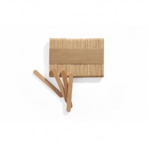 Glasspinne mini,bokträ, 72x8 mm, 500 st/fp