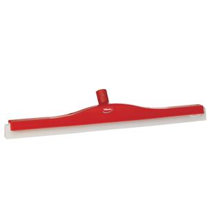 Golvskrapa  ledbar för skaft  50x600 mm, röd