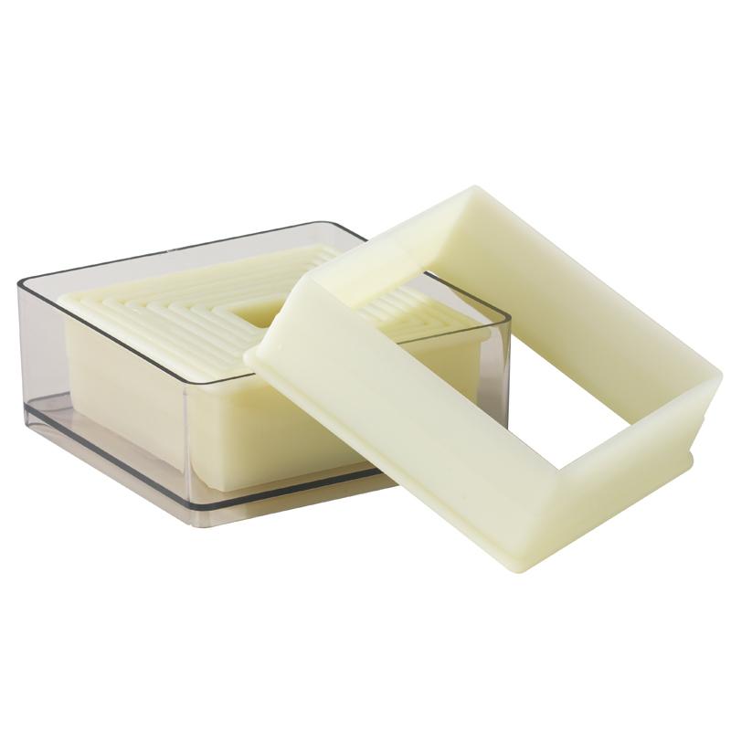 Utstickare,plast, kvadrat, 9 del, 19-95 mm