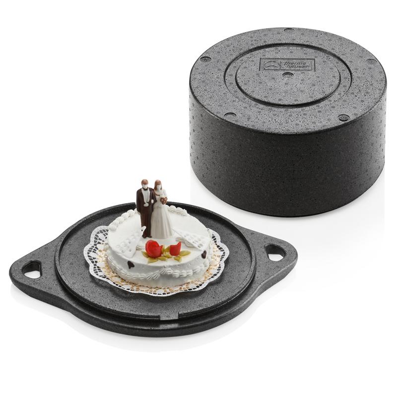 Tårtbox inv mått Ø 340x150 mm